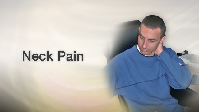 <div class=media-desc><strong>Neck pain</strong><p>Your neck is sore. It hurts to move your head. Are you sleeping wrong, is it stress, or a result of climbing that ladder to clean your gutters? Let's get to the bottom of those real pains in your neck.